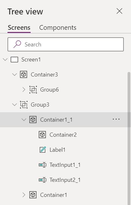 container control nesting
